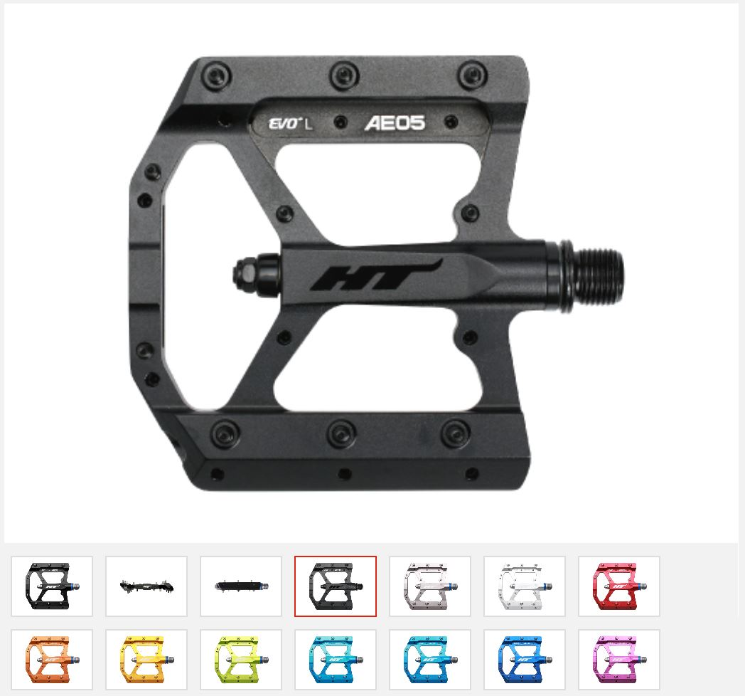 comprar online al mejor precio Pedales de plataforma HT Components FLAT AE05