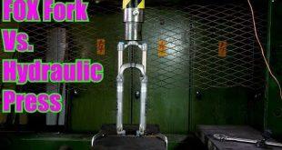 prensa hidraulica con una horquilla de mtb