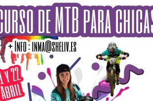 Curso de MTB para mujeres en la fenasosa bikepark por Laura Celdran y Eva Garrido