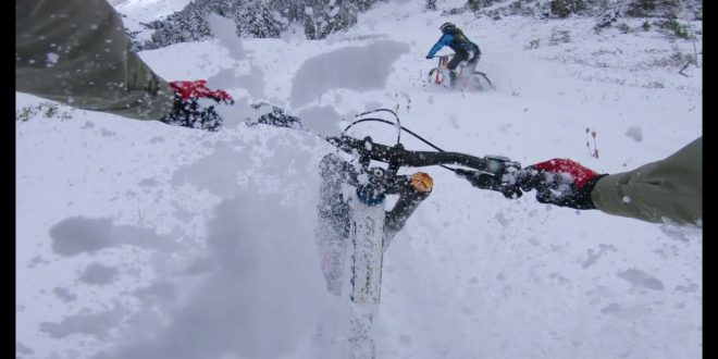 VINCENT TUPIN SNOWBIKE EN NIEVE POLVO